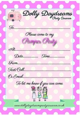 Free PAMPER Party Invites Click To Download And Print