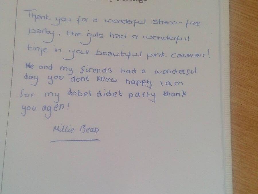 Testimonial from Millie Bean [9]
